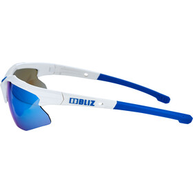 Bliz Hybrid M12 Glasses for Small Faces, white/smoke with blue multi